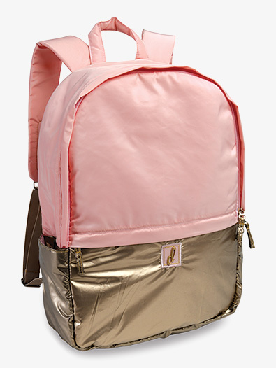Pink and Gold Metallic Puffer Dance Backpack - Style No B466PK