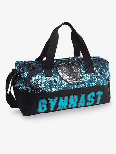 Sequin Gymnastic Heart Duffel - Style No B845