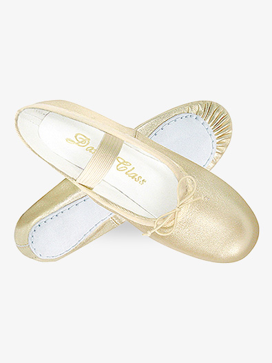 Child Gold/Silver Leather Full Sole Ballet Shoes - Style No B901