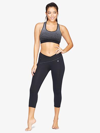 Womens V-Front Workout Capri Leggings - Style No BCBP30590