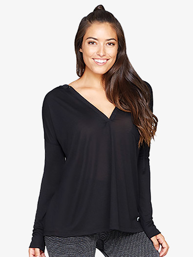 Womens Relaxed Hooded Workout Sweater - Style No BCTL30602