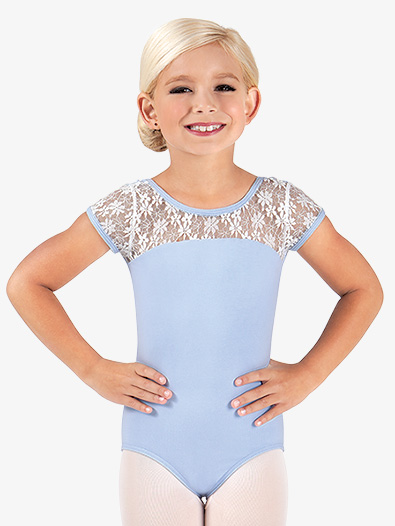 Child and Toddler Floral Lace Cap Sleeve Leotard - Style No BT5070C
