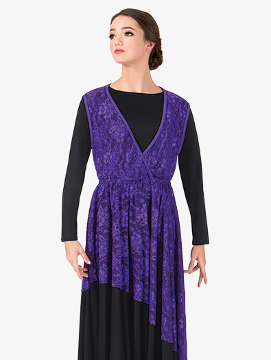 Womens Lace Overlay Worship Dress - Style No BT5191x