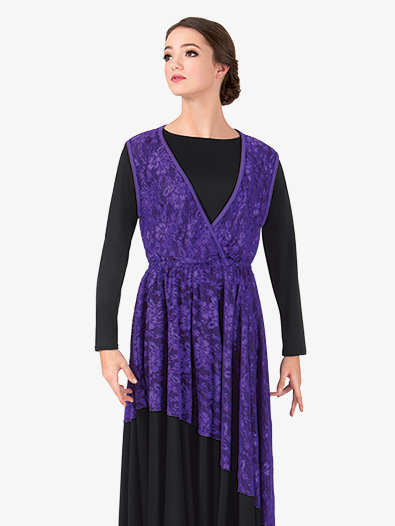 Womens Plus Size Lace Overlay Worship Dress - Style No BT5191Px