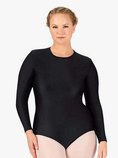 Womens Plus Size Snap Crotch Long Sleeve Leotard - Style No BT5193P