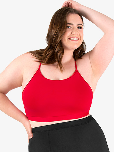 Womens Plus Size Team Basic Compression Camisole Bra Top - Style No BT5203Px