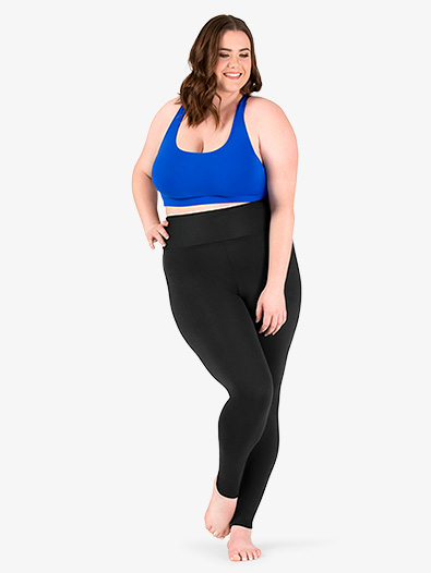 Womens Plus Size Team Basic Compression High Waist Dance Legging - Style No BT5208P