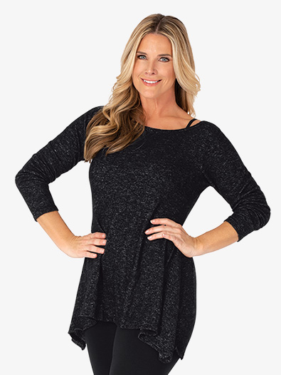 Womens Long Sleeve Dance Tunic Top - Style No BT5227