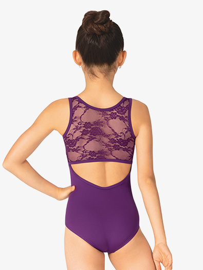 Girls Lace Back Keyhole Tank Leotard - Style No BT5238C