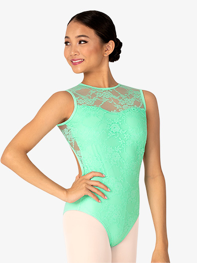 Womens Lace Open Back Tank Leotard - Style No BT5252