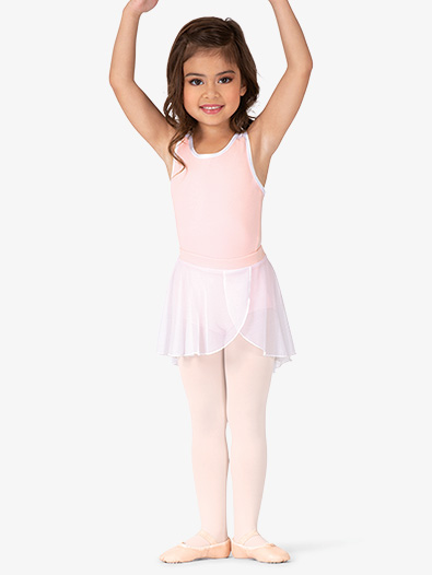 Girls Mesh Mock Wrap Ballet Skirt - Style No BT5281C