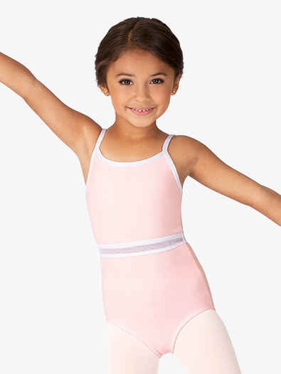Girls Mesh Waist Insert Camisole Leotard - Style No BT5282C