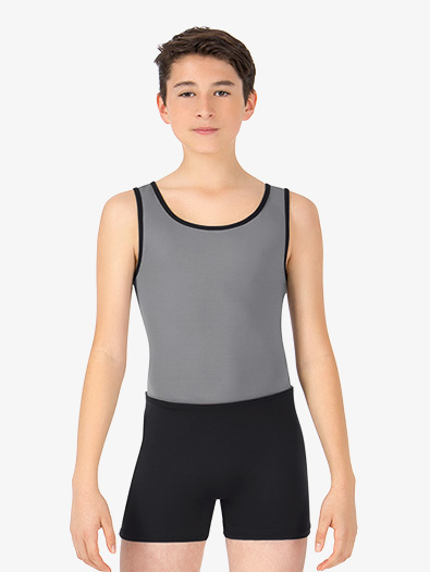 Mens Two-Tone Dance Tank Shorty Unitard - Style No BT5303x