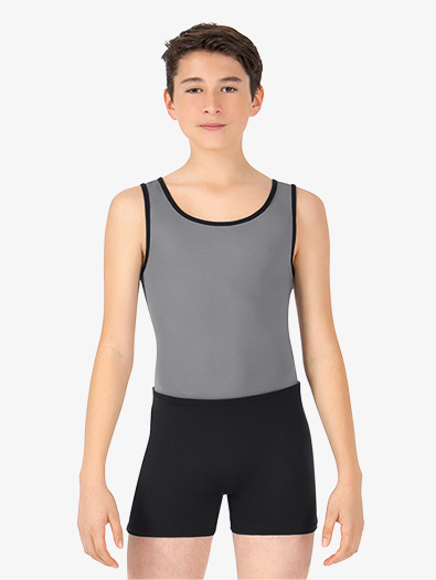 Boys Two-Tone Dance Tank Shorty Unitard - Style No BT5303C