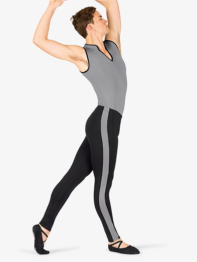 Mens Two-Tone Stripe Dance Leggings - Style No BT5307x