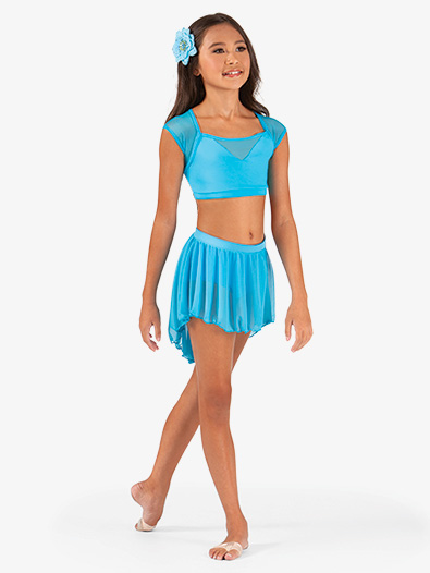 Child High-Low Mesh Dance Skirt - Style No BW1108C