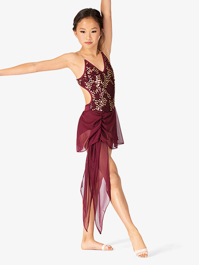 Girls Performance Double Sequin Camisole Dress - Style No BW3722