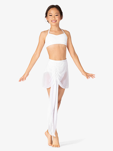 Girls Performance Asymmetrical Mesh Pull-On Skirt - Style No BW3723