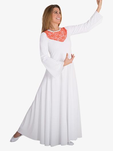 Womens Plus Bell Sleeve Worship Dress - Style No BW625XX