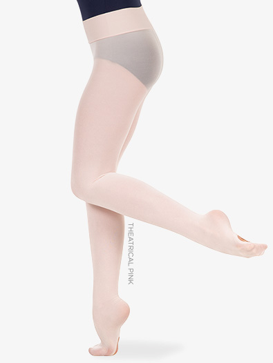 Girls Nylon Smooth Waist Convertible Dance Tights - Style No C41