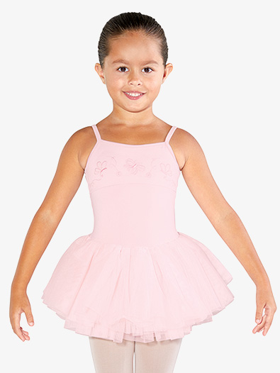 Girls Embroidered Butterflies Camisole Ballet Tutu Dress - Style No CL3567