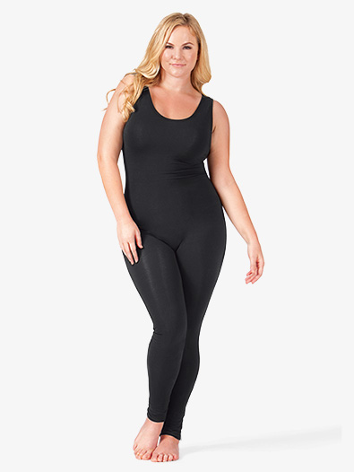 Adult Plus Size Scoop Neck Cotton Tank Unitard - Style No CL813P
