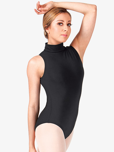 Adult Cotton Mock Neck Tank Leotard - Style No CL8709