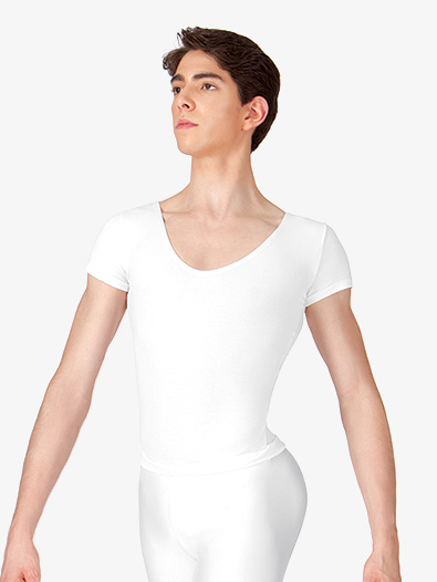 Men's Cotton Short Sleeve Thong Leotard - Style No CL881T