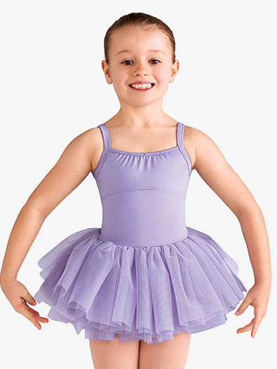 Girls Diamond Heart Mesh Camisole Ballet Tutu Dress - Style No CL9565
