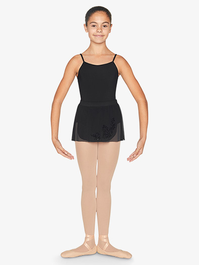 Girls Flock Mesh Wrap Pull-On Ballet Skirt - Style No CR9931