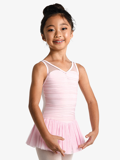 Girls Wave V-Neck Tank Dress - Style No D2471C