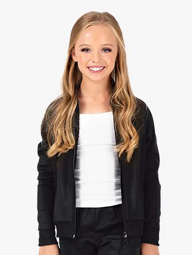 Girls Team Zip Up Long Sleeve Jacket - Style No D3044C