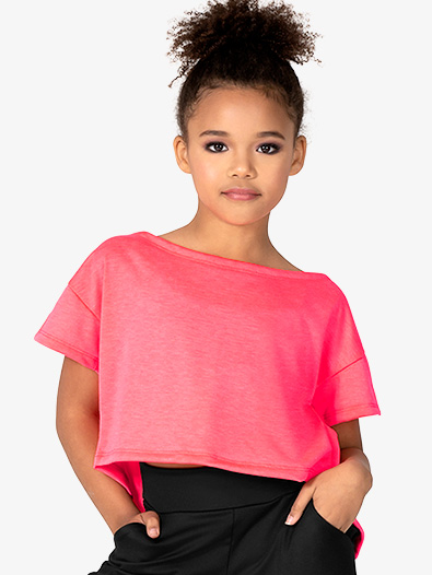 Child Boat Neck Crop Top - Style No D3049C