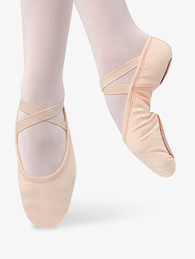 Womens Canvas Split Sole Ballet Shoes - Style No D497