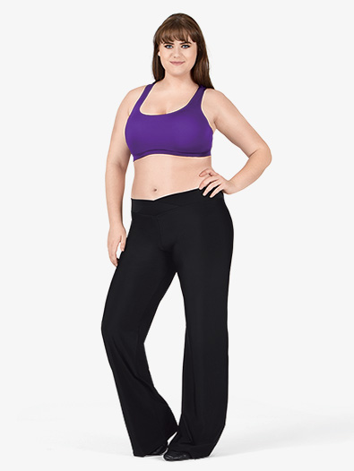 Adult Plus Size V-Front Boot Cut Pants - Style No D5107W