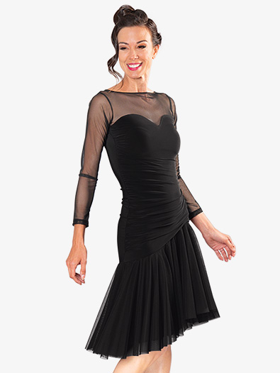Womens Mesh Sweetheart Short Ballroom Dance Dress - Style No D907