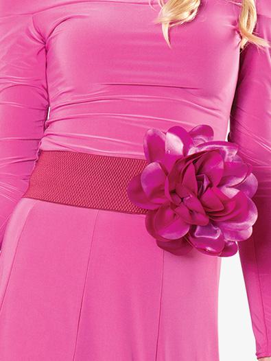 Womens Elastic Silk Floral Belt - Style No DAB901