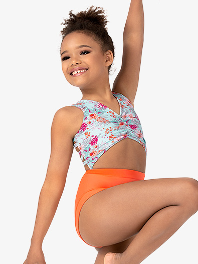 Girls Spring Flower Print Tank Leotard - Style No DB230C