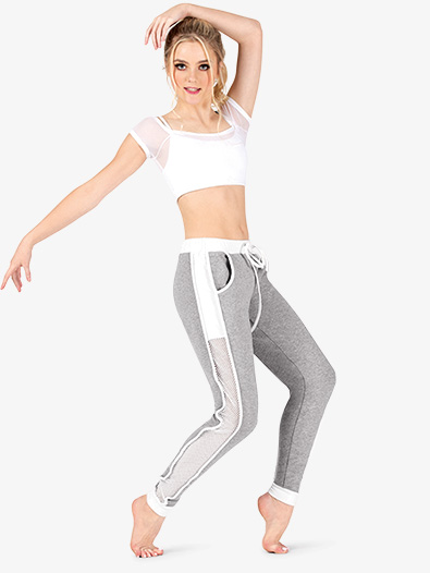 Womens Mesh Panel Fitness Jogger Pants - Style No DS5284