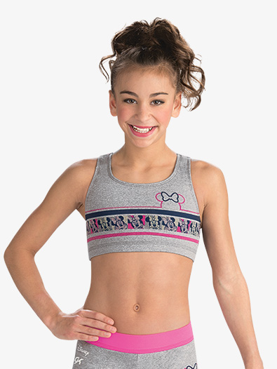 Girls Disney Minnie Mouse Sport Crop Top - Style No DSY132C