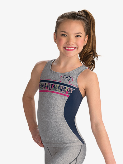 Girls Disney Minnie Mouse Sport Long Tank - Style No DSY139C