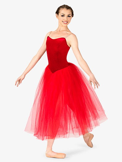 Womens Performance Camisole Romantic Length Tutu Dress - Style No EL101