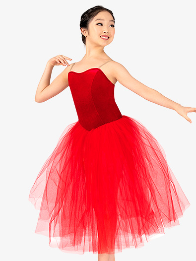 Girls Performance Camisole Romantic Length Tutu Dress - Style No EL101C