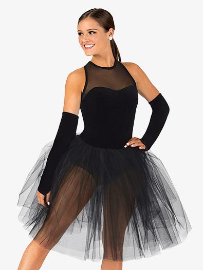 Womens Performance Tank Velvet Tutu Dress - Style No EL103