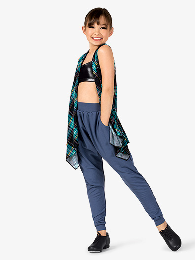 Girls Plaid 3-Piece Hip Hop Set - Style No EL130C
