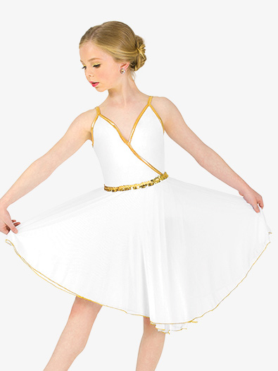 Girls Dance Costume Grecian Camisole Dress - Style No EL152C