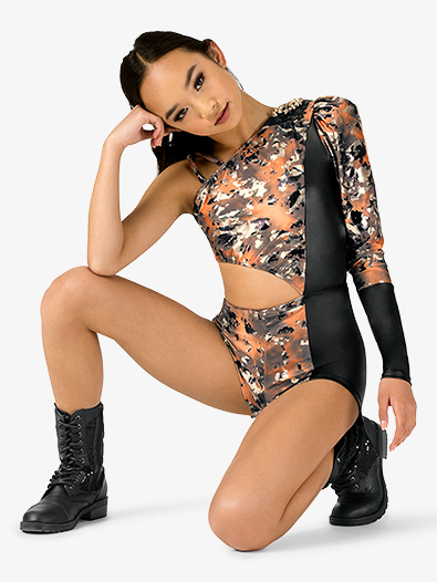 Womens Performance Asymmetrical Shorty Unitard - Style No EL175