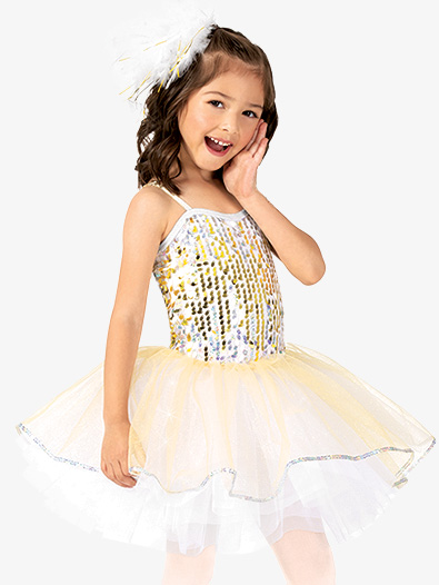 Girls Performance Sequin Camisole Tutu Dress - Style No EL255C