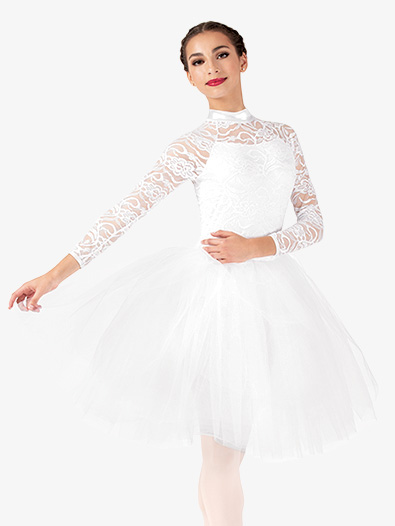 Womens Performance Lace Romantic Tutu Dress - Style No EL257