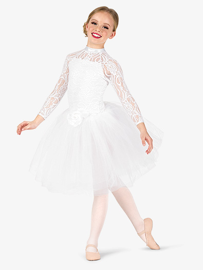 Girls Performance Lace Romantic Tutu Dress - Style No EL257C